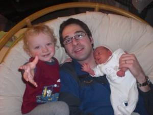 Michael mit Tim und Oskar